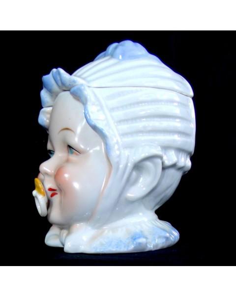 (SOLD) BABY HEAD TOBACCO JAR